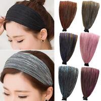 Fashion Headband Mesh Fabric Headwear Hairbands Wide Head Bands Hair Hoop Women
