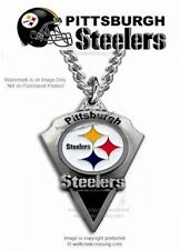 "PITTSBURGH STEELERS NECKLACE 24"" HEAVY SPORTS CHAIN NFL FOOTBALL - FREE SHIP #CA"