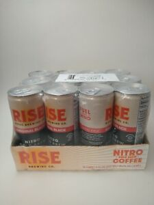 RISE Brewing Co. Original Black Nitro Cold Brew Coffee 12 Pack Cans