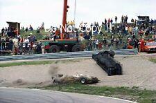Rene Arnoux Renault RE30B Massive Crash Dutch Grand Prix 1982 Photograph 1