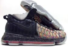 new product 27e67 ff4e4 NIKE KD 9 IX ID KEVIN DURANT MULTI-COLOR BLACK-ANTHRACITE SZ MEN