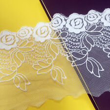 1yd Lace Edge Trim Floral Embroidered Ribbon Trimming Sewing Craft Applique DIY
