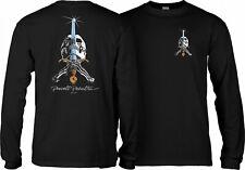 Powell Peralta Skateboard Long Sleeve Shirt Skull and Sword Black