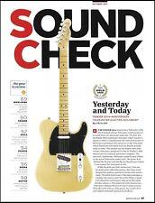 Fender 60th Anniversary Telecaster guitar 8 x 11 sound check review