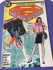 DC Comic Book Vtg 1986 Superman Man of Steel No 2 Introducing Lois Lane 1986