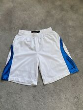 Nike MENS Performance Basketball Shorts White with Blue Size XL