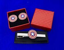 Captain America Pince à Cravate Super Héro Noeud Clasp Avengers à Nouveau