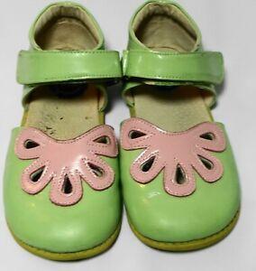 Livie & Luca Matilda Jane Petal Pink & Green Patent Leather Shoes Sandals kid 13