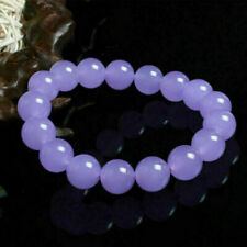 Beautiful 100% Natural 10mm Lavender Jadeite Jade Gems Bangle Bracelet 7.5'' AAA
