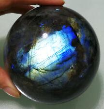 AAAAA+  940g 87mm  NATURAL Labradorite Crystal Sphere Ball Orb Gem Stone D4