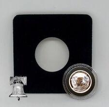 Air-tite Coin Holder Black Velvet Display Card Insert + Model A Capsule Case
