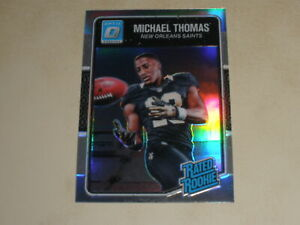 2016 Donruss Optic Rated Rookie Silver Prizm #186 Michael Thomas RC