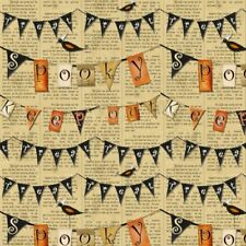 Witchy Studio E Flags on Tan 3701-39 BTHY Cotton Quilt Fabric