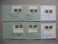 GERMANY BRD, 6x cover with horizontal pair from S/S 20th ann. attack on A.H.