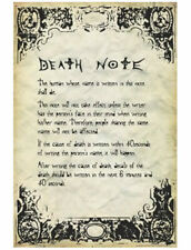 Deathnote - Rules Poster 24in x 36in
