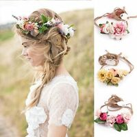 Flower Head Chain Jewelry Hollow Elastic Hair Band Headband Wedding Party Beach