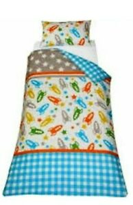 Space Rocket Kids Single Duvet Cover Bedding Set