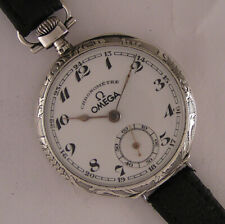 Vintage CHRONOMETRE Omega Swiss Hi Grade Solid SIlver Swiss Wrist Watch Serviced