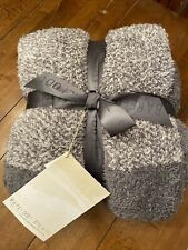 Barefoot Dreams Throw Blanket Style 619 Graphite/stone NEW!