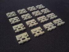 Lego Plates with Handle (stud-aligned bridges) 1x2 [2540] - Grey x16