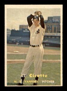 1957 Topps Set Break # 398 Al Cicotte EX-MINT *OBGcards*