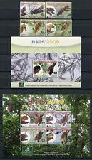 Papua Neuguinea 2009 Fledermäuse Bats 1441-44 Block 87-88 Postfrisch MNH