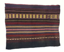Small Antique Bolivian Aymara Mantle Handwoven Wool Textile