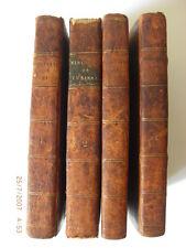 Histoire Du Vicomte Turenne Vols 1 - 4 1771 Leather Bound Leipzig Engraved Maps