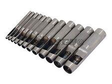 12 pieza hueca Perforadora Conjunto de herramientas-Junta Metal de Hoja Cuero Plástico De Vinilo