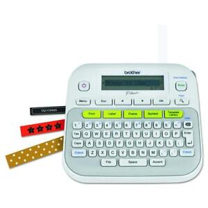 Brother P-touch, PTD210, Easy-to-Use Label Maker, One-Touch 2.3, Gray/White