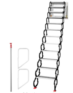 Pull Down Accordion Wall-Mounted Stairs/Ladder Attic/Loft