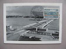 FRANCE, maximumcard maxi card 1966, dam La Rance, elctricity energy