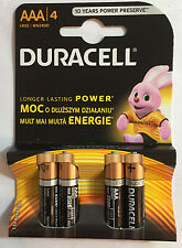 Duracell Pilas Alcalinas Aaa 1.5V LR03/MN2400 Paquete de 4, 100% Original