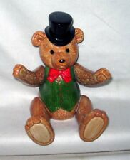 Vintage Schmid Gordon Fraser 1983 Musical Teddy Bear Moveable Joints Top Hat
