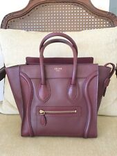 Celine Micro Luggage Burgandy Bordeaux Authentic