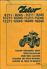 Ersatzteilliste Zetor 8211 8245 9211 9245 10211 10245 11245 12211 14245 16245 ..