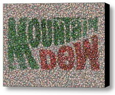 Amazing Framed Mt. Dew Mountain Bottlecap mosaic print Limited Edition w/COA