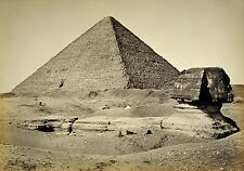 MAGNET Travel World GREAT PYRAMID and SPHINX 1898 Black White
