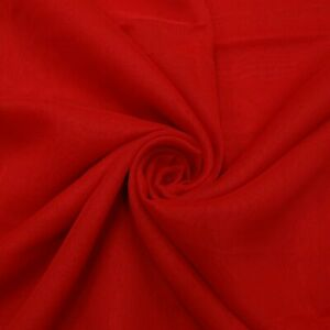 Embroidered Sari Vintage Red Silk Blend Fabric Ethnic Wear Indian Saree SI2186