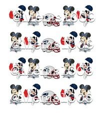 NFL New England Patriots nail art WATER DECALS  Mickey And Minnie Nail Art