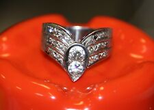 AB8 Tiara Antique Nouveau Old European Cut DIAMOND 1tcw size 9 14k white gold
