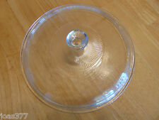 624C Corning Ware Vision Pyrex 624-C Clear Ribbed Lid VG Condition