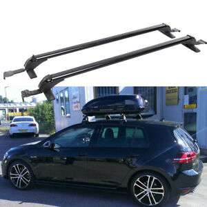 "For VW Golf GTI  43.3"" Aluminum Car Roof Rack Luggage Carrier Cross Bar w/ Lock"