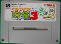 SFC SNES I'MAX Supe Mahjong 3 Karakuchi spicy SHVC-Q8 Super Famicom Nintendo