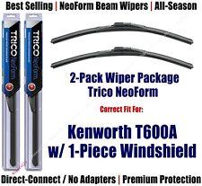 Wipers 2pk Premium fit 2007 Kenworth T600A w/1-Piece Windshield 16180x2