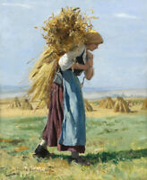 In The Fields Julien Dupre Fine Art Print on Canvas Giclee Reproduction 8x10 SM
