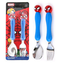 Marvel Spiderman  Spoon Fork Set for Kids Boys Cutlery Cute Design Utensils