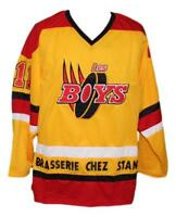 Any Name Number Size Les Boys Movie Custom Retro Hockey Jersey Yellow