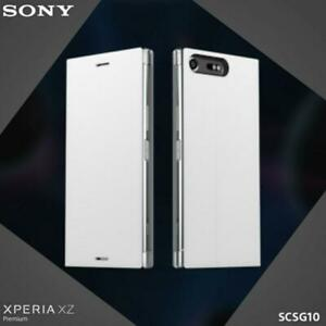Official Genuine Sony Xperia XZ Premium SCSG10 Style Cover Stand Case - White