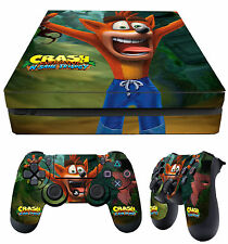 PS4 Slim Skin Crash Bandicoot N Sane Trilogy Stickers + 2 X Pad skins New Laid